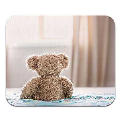Amazoncom Tadnil Good Morning Teddy Bear Non Slip Rectangle Mouse
