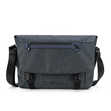 7243b950a7c1 Pokarla Water Resistant Messenger Bag with Laptop Compartment & Padded  Strap Crossbody Sling Satchel Bag for Work School Bookbag Fits 14 Inch  Laptop ...