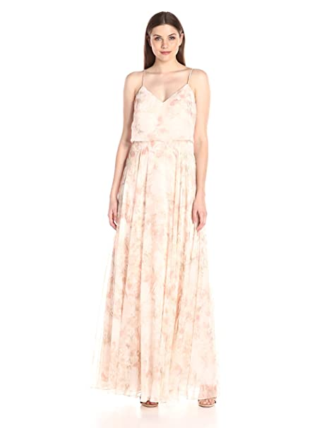 Jenny Yoo Women s Inesse Floral Chiffon Gown  Amazon.ca  Clothing ... 5ced64835fc20