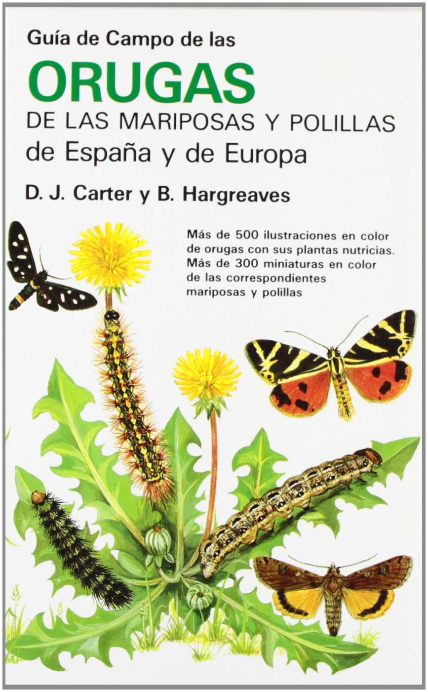 GUIA CAMPO ORUGAS DE MARIPOSAS Y POLILL. GUIAS DEL NATURALISTA-INSECTOS Y ARACNIDOS: Amazon.es: Carter, David J., Hargreaves, Bria: Libros