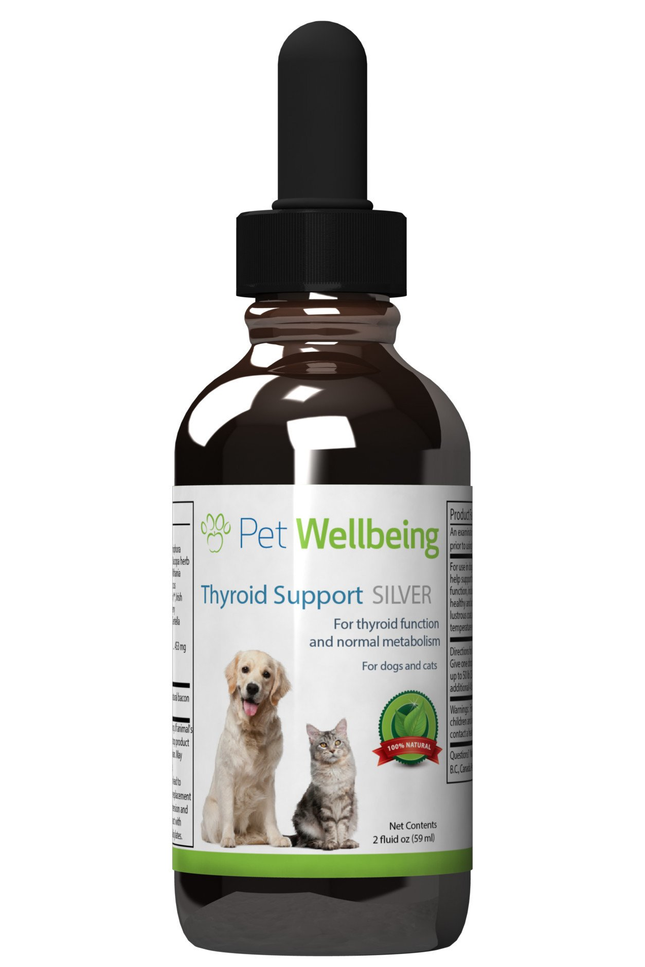 Pet Wellbeing - Thyroid Support Silver for Dogs - Natural Support for Thyroid Health  - 2oz(59ml)