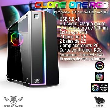 SOG - Caja para PC Gamer Clone 1: Amazon.es: Electrónica