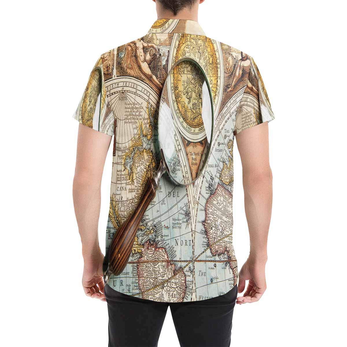 InterestPrint Fashion Printed Magical Landscape Dream Place Stand Collar Casual T-Shirt Beach Tops S-5XL