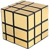 Meily ルービック ミラーブロックス 立体パズル 3×3×3 スピードキューブ 57mm 全面銀色 不規則な形のキューブ (金)