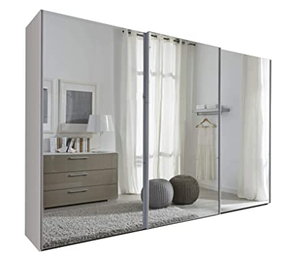 Armadio Porte Scorrevoli A Specchio.Sliding Robe Schlafzimmer Komet White Specchio Armadio Ante