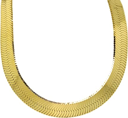 925 Sterling Silver Yellow Gold Plated Link Chain Necklace exclusive jewelry