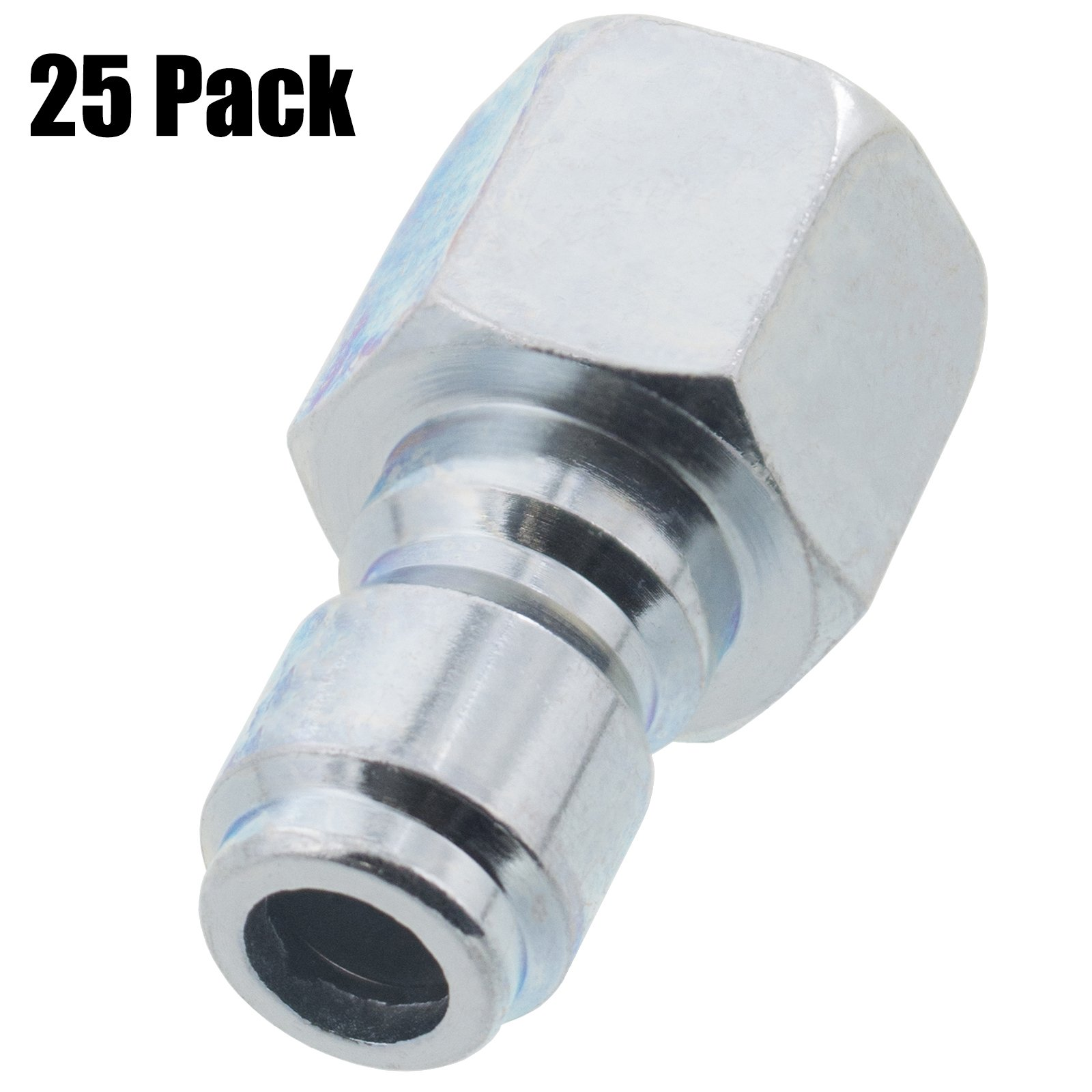 Erie Tools 25 Pressure Washer 3/8in. Female NPT to Quick Connect Plug Zinc Plated Coupler High Temp 4000 PSI 10.5 GPM by Erie Tools