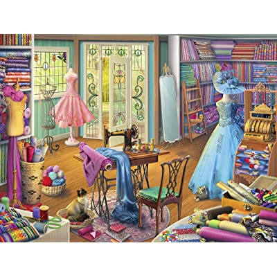 Ravensburger Seamstress Shop 15276 1000 Piece Puzzle for Adults, Every Piece is Unique, Softclick Technology Means Pieces Fit Together Perfectly: Toys & Games