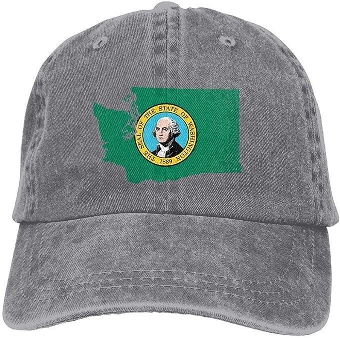 Hoswee Hombres Mujer Gorra Beisbol, Snapback Sombreros Washingto ...