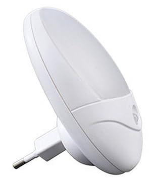 ElectroDH - Luz De Noche Led Con Sensor De Movimiento 0,3W 230V Blanca Infantil Adultos