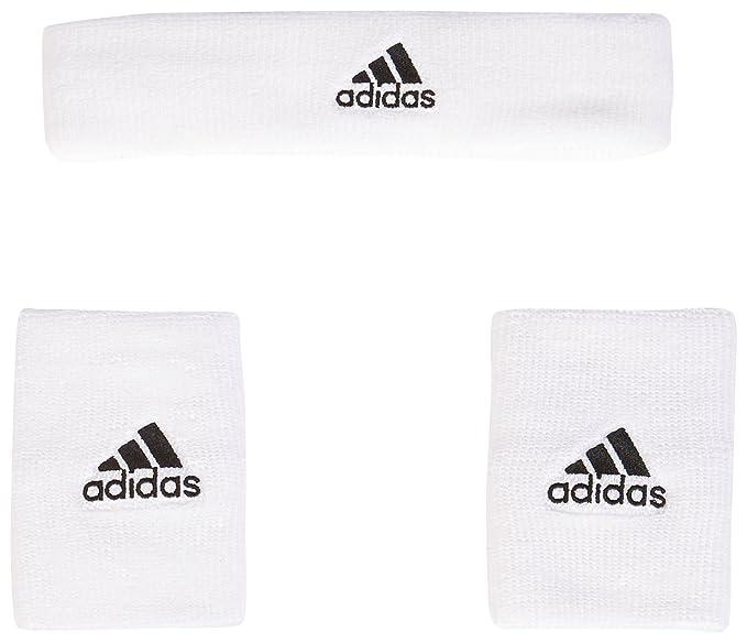 c235e3941c8b Adidas NBA WB+HB Kit Fascia e Polsini G87965 Wht/Black: Amazon.it:  Abbigliamento