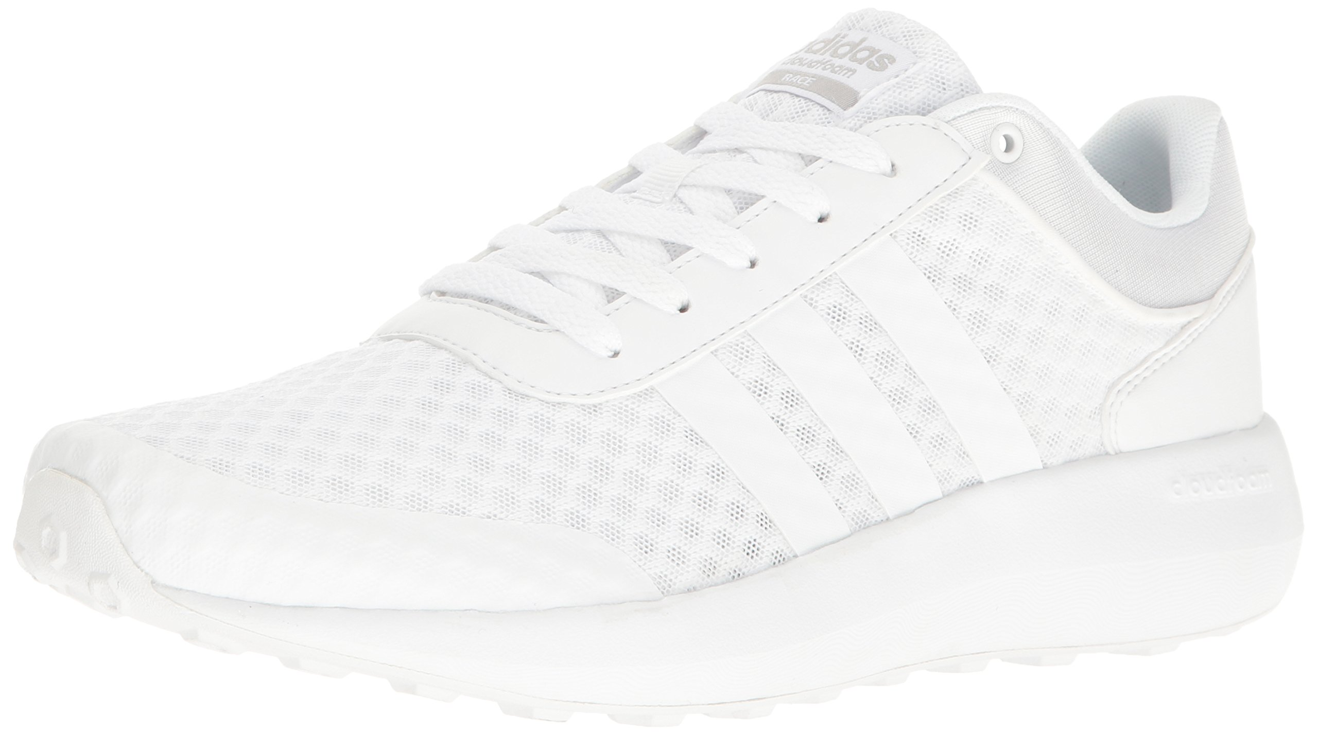 adidas Men's Cloudfoam Race Running Shoe, White/Clear Onix, 9 D-Medium by adidas (Image #1)