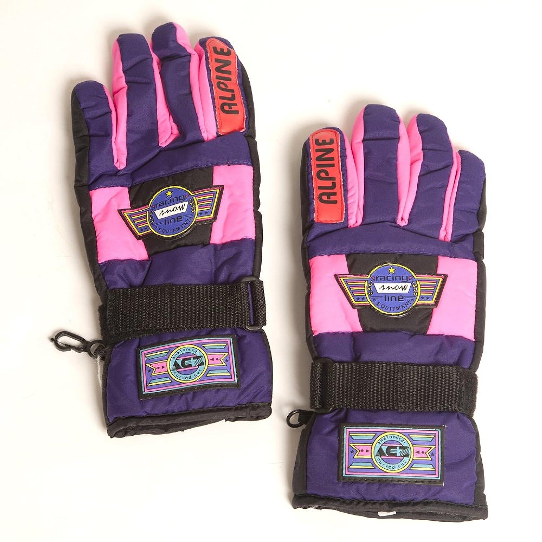 Accessoryo Niñas 'de carreras de nieve línea gruesa guantes de moda