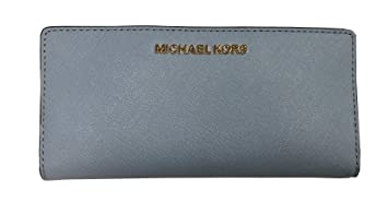 f8182ab9ddf77 Image Unavailable. Image not available for. Color  Michael Kors Jet Set  Travel Large Card Case Carryall Leather Wallet ...
