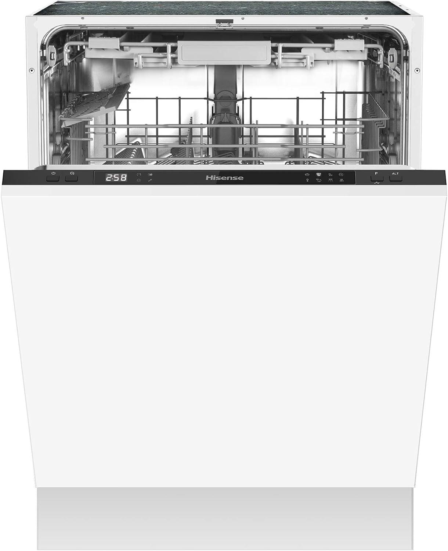 Hisense HV603D40 - Lavavajillas (completamente integrado, 60 cm, 14 medidas para cubiertos, protección completa contra desbordamiento)