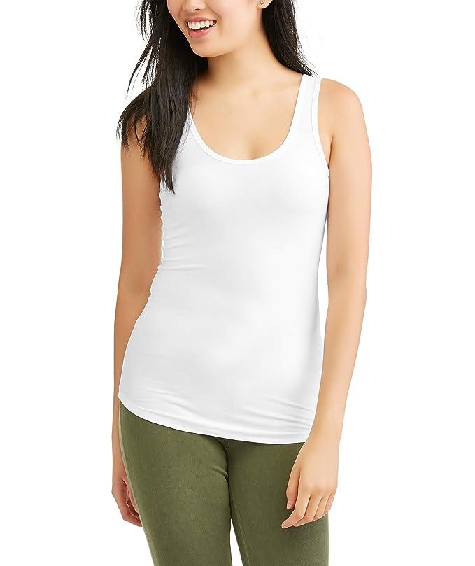 33fd3efe1a Amazon.com: No Boundaries Juniors Womens Scoop Neck Tank Top: Clothing