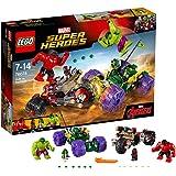 LEGO Super Heroes 76078 - Set Costruzioni Hulk Contro Red Hulk