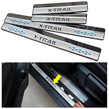 For Nissan X-Trail T32 2014-2019 Stainless Door Sill Scuff Plate Kick Protector