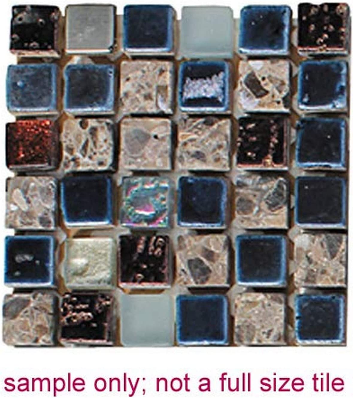 Sample Only Only Nightline Wave Intrend Tile GT005-A-sample Glass Square Mosaic Blend Tile Sheet