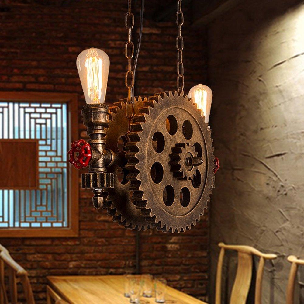 Amazon.com: Steampunk Lámpara de techo con colgante de tubo ...