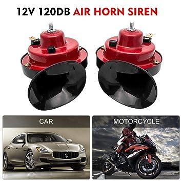 Loud Car Horn >> Maso 12v Electric Car Horn Super Loud Air Horns Twin Dual Tone Snail For Boat Van Bike Truck Siren 120db Each Horn 60db