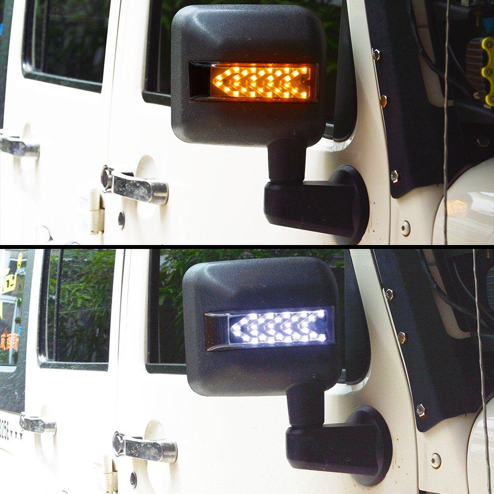 For Jeep Wrangler Jk Led Side Mirror Housing Amber Turn