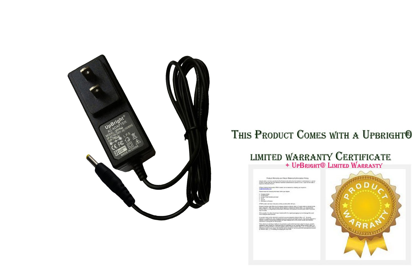 UpBright NEW Global AC / DC Adapter For jk050200-so4BSA Windows Connect 10.1 Tablet PC 5V 2A Power Supply Cord Cable PS Wall Home Battery Charger PSU