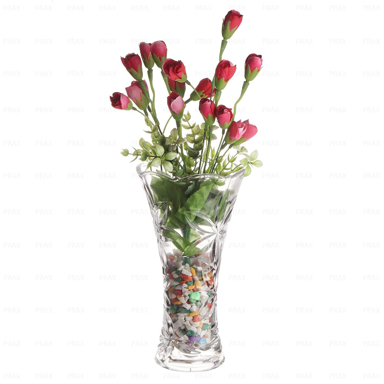 225 & PRAX Crystal Touch Beautiful Decorative Designer Flower Vase
