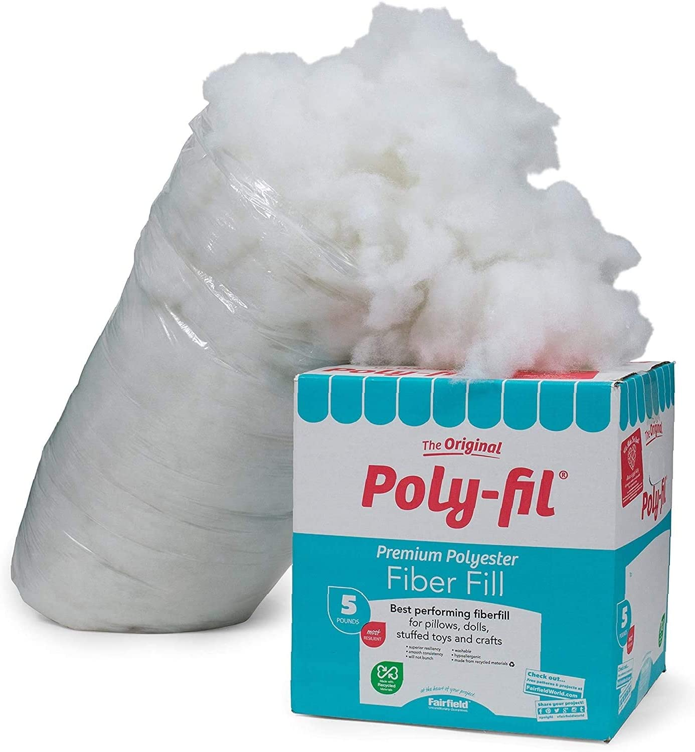 1 Pack Fairfield PF-5 Poly-Fil Premium Fiber