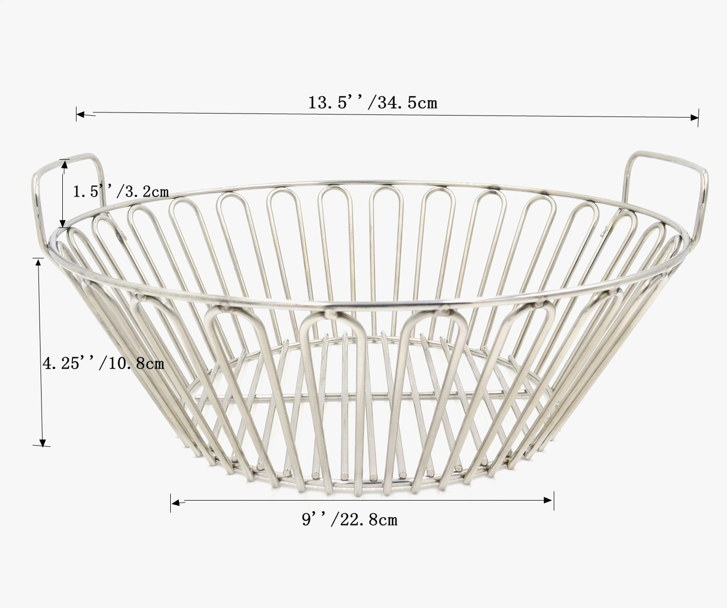 RunTo 13 5 inch Charcoal Ash Basket Fits for Large Big Green Egg Grill,  Kamado Joe Classic, Pit Boss, Louisiana Grills,Primo Kamado Grill and other