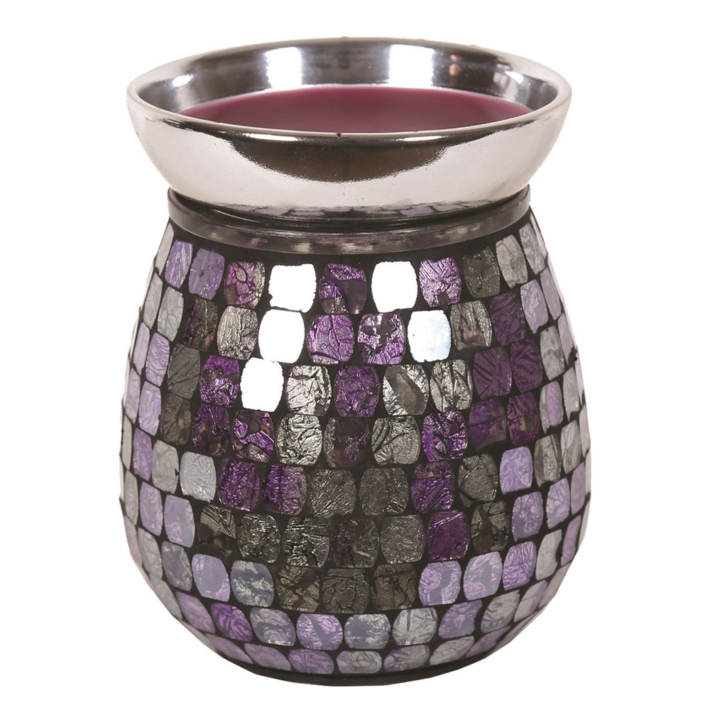 Astin of London - Aroma Accessories Electric Purple Mirror Mosaic Wax Tart Melt Burner Lamp Scented Aroma Warmer - Hand Crafted