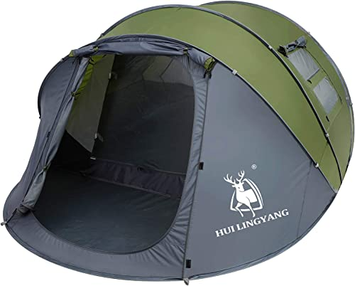 6 Person Easy Pop Up Tent-Automatic Setup