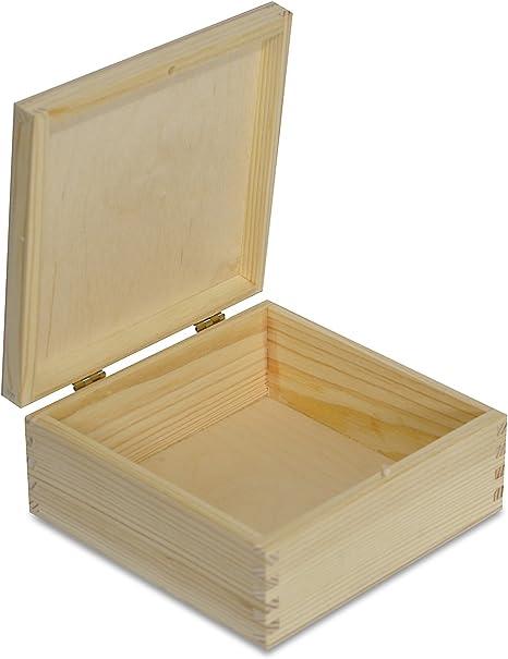 Aufbewahrungsbox aus Holz mit Deckel und Riegel