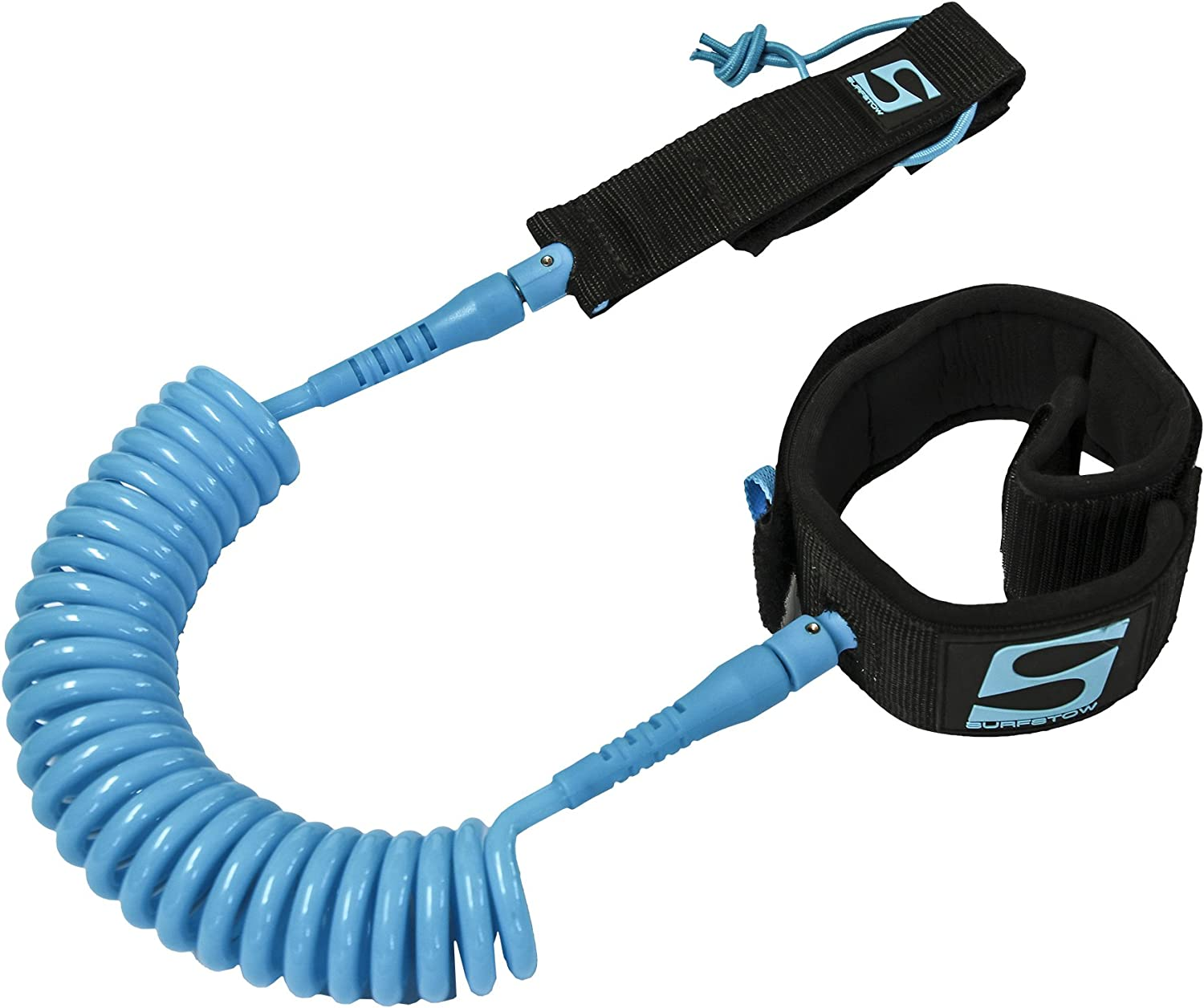 Ankle or Calf Coiled or Straight SurfStow SUP 10 Foot Safety Leash