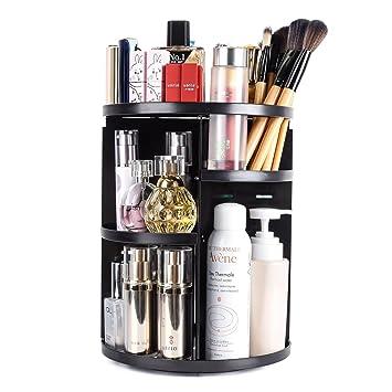 360 grad Rotation Kosmetische Lagerung Box Multi-Funktional Kosmetische Display Fall Lagerung Box Einstellbare Höhe Make-Up Veranstalter