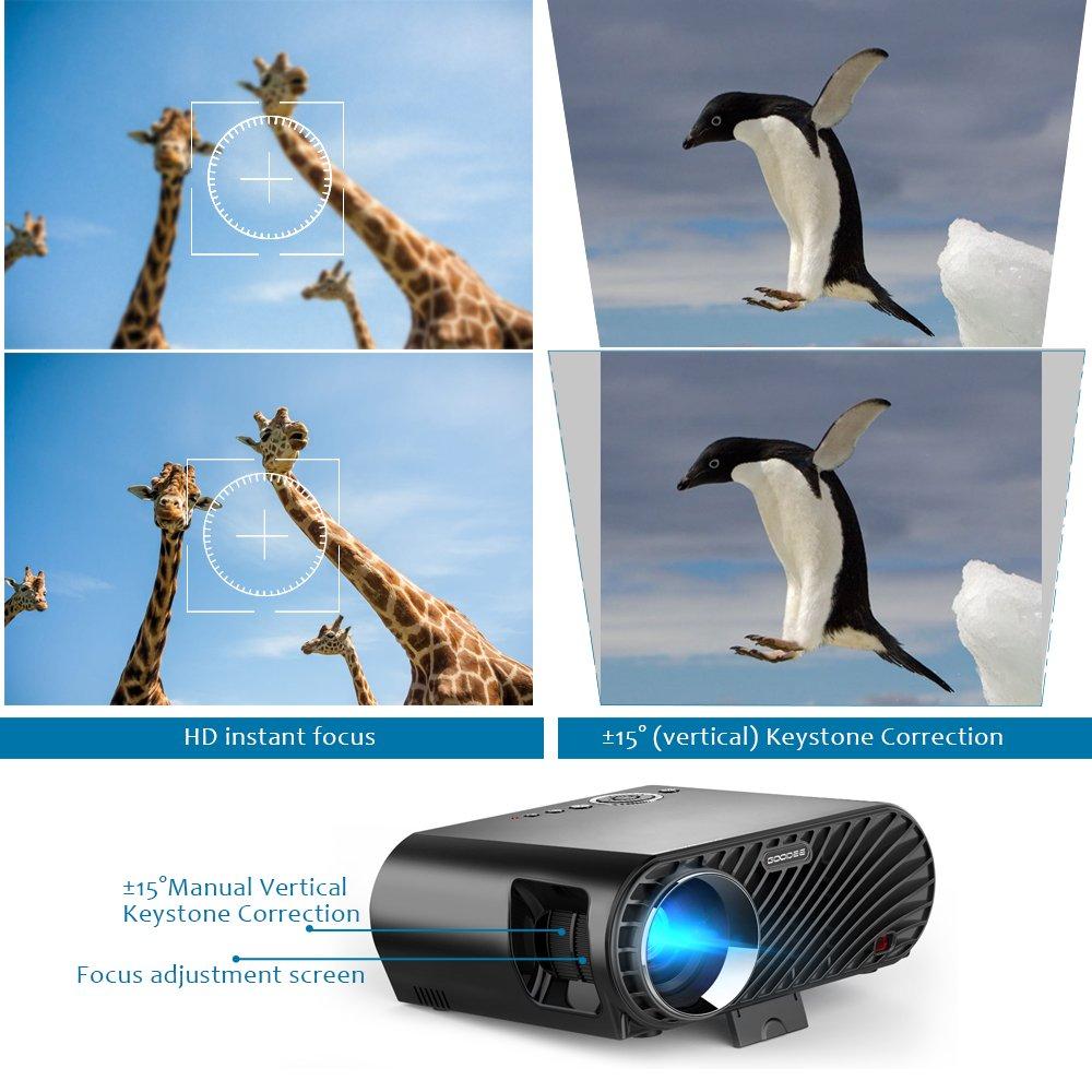 Amazon.com: Projector, GooDee Upgraded 3200 lm Luminous Flux LED ...