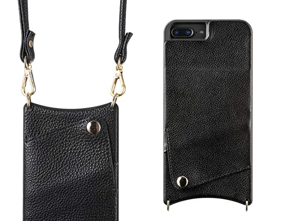 check out dc254 ef2d9 MojeTechs iPhone 8 Wallet Case Strap - iPhone 7 Wallet Case - iPhone 8 Case  for Women with Phone Card Holder iPhone 8 Case Wallet iPhone 7 Case with ...