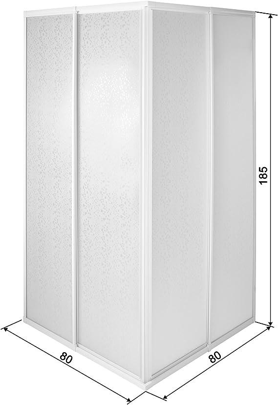 tectake 800522 - Mampara de ducha, entrada en esquina, marco de ...
