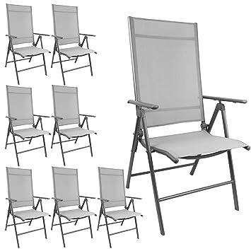 Almacenamiento räumung. 8 pieza elegante silla de jardín con ...