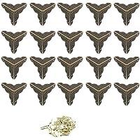 Protection de coins 20pièces bronze antique 25mm dans