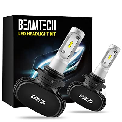 BEAMTECH 9006 LED Headlight Bulb, 50W 6500K 8000Lumens Extremely Brigh HB4 CSP Chips Conversion Kit: Automotive