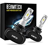 BEAMTECH 9006 LED Headlight Bulb, 50W 6500K 8000Lumens Extremely Brigh HB4 CSP Chips Conversion Kit