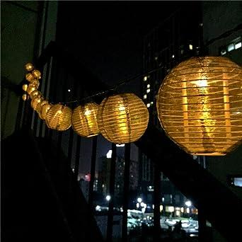 Weihnachtsbeleuchtung Für Balkongeländer.Led Solar Lampion Lichterkette 20er Partylichterkette Weihnachtslichterketten Weihnachtsbeleuchtung Deko Für Innen Außen Balkon Garten Party