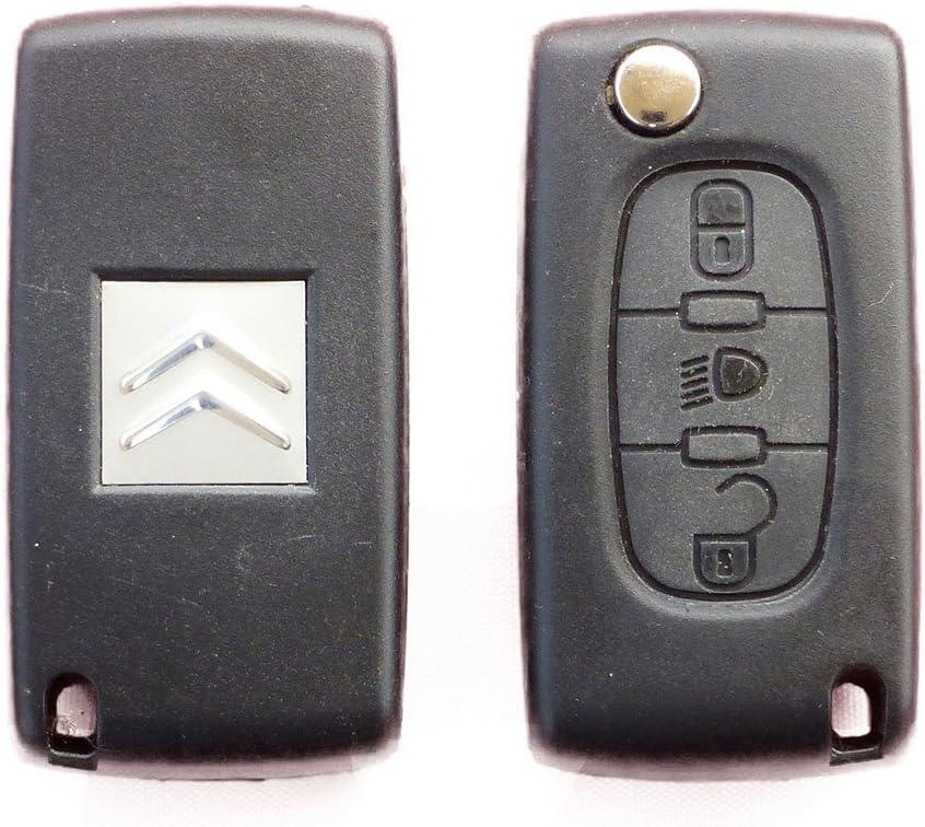 Citroen 2 Button key fob case HU83 blade for C1 C2 C3 C4 C5 XSARA PICASSO repair
