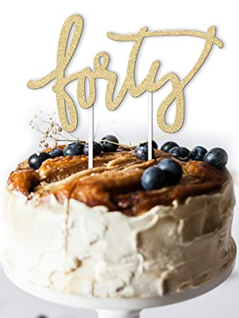 40th Birthday Cake Topper Decoration