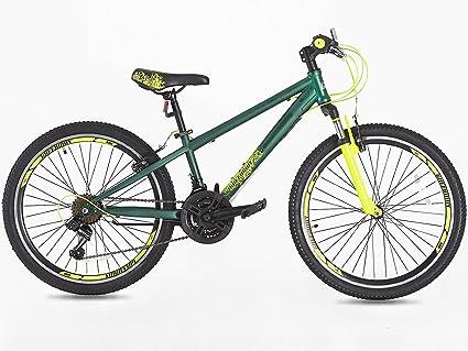 Bicicleta de montaña para niños, con ruedas de 24 pulgadas, cambio Shimano de 21 velocidades, apropiada a partir de 9 años.: Amazon.es: Deportes y aire libre