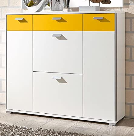 Voss Furniture Viola/Approx. 8 Pairs Of Shoe Cabinet In Gloss White/Sun