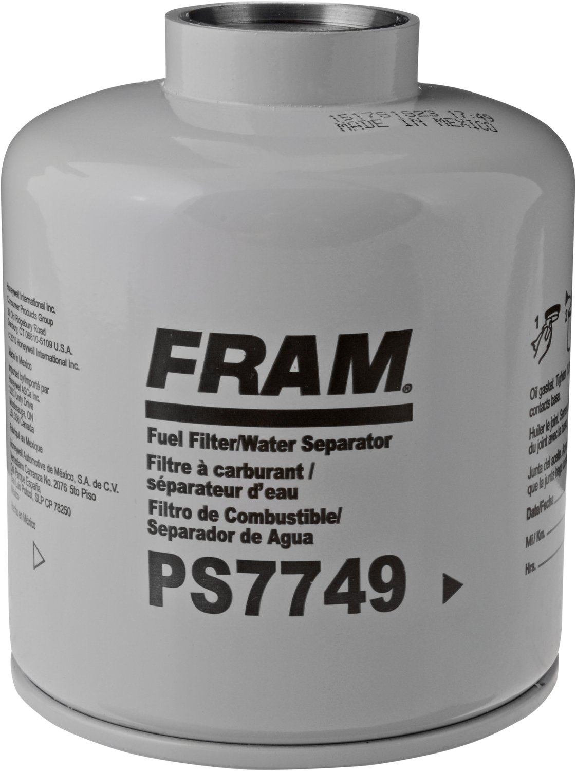 Amazon.com: FRAM PS7749 Heavy Duty Spin-On Fuel Water Separator Filter:  Automotive