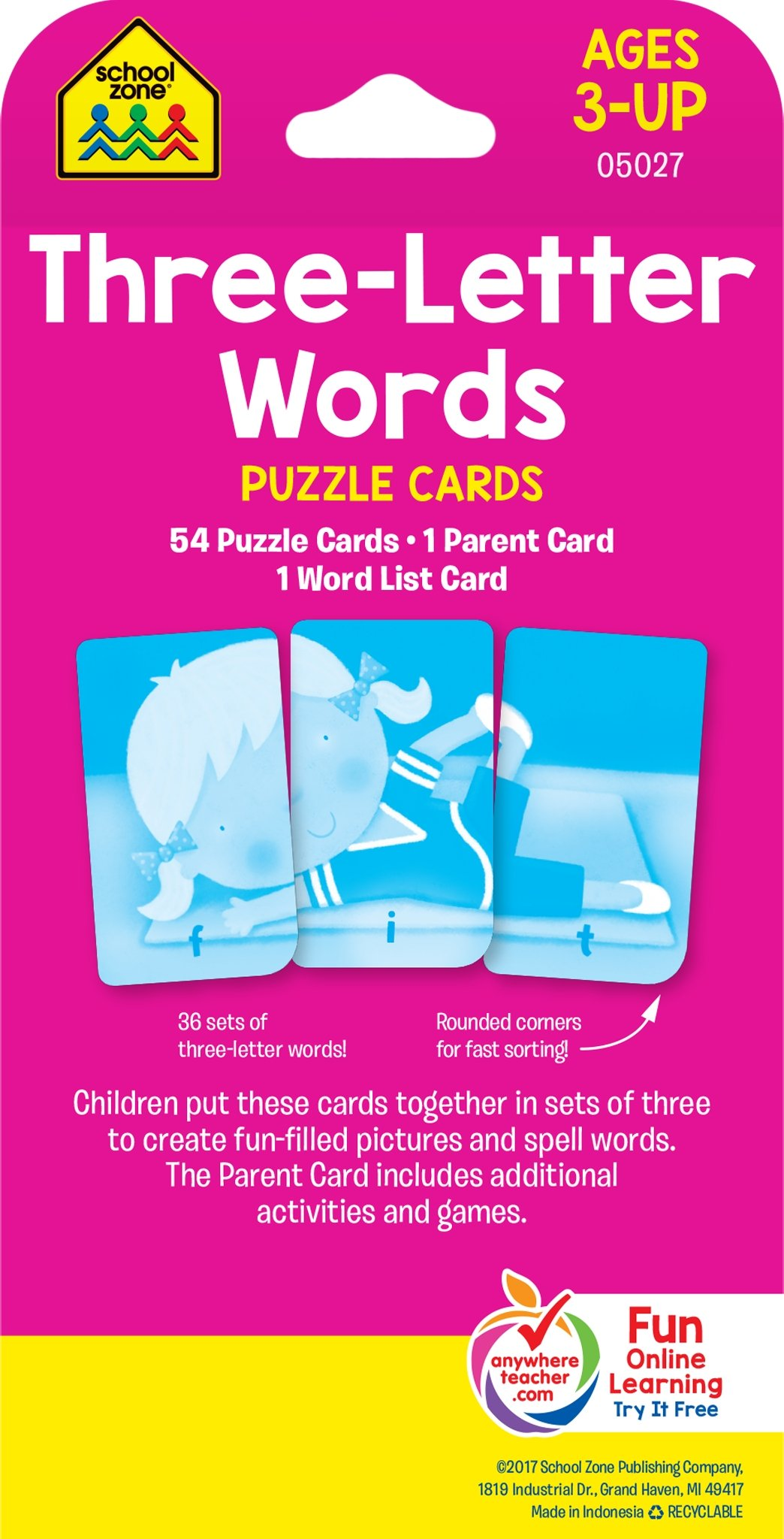 Buy Puzzle Cards - Three-Letter Words Book Online at Low Prices in ...