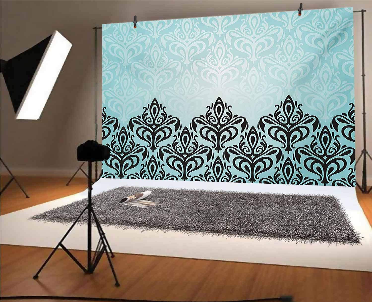 Cat 10x8 FT Vinyl Photography Background Backdrops,Patchwork Inspired Pattern Adorable Kitty Faces Silly Expressions Footprints Stripes Background for Photo Backdrop Studio Props Photo Backdrop Wall
